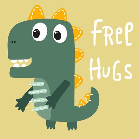 cute: cute dinosaur Illustration