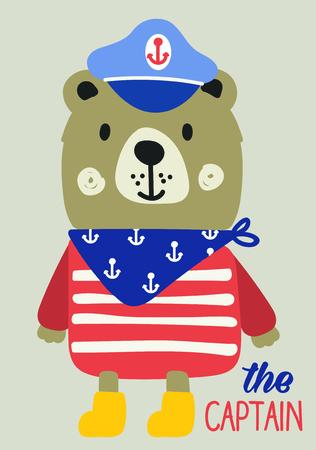 baby bear: cute baby bear, captain