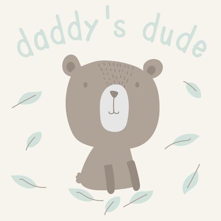 baby bear: cute baby bear illustration