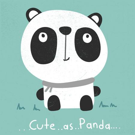 hapy: cute panda cartoon vector