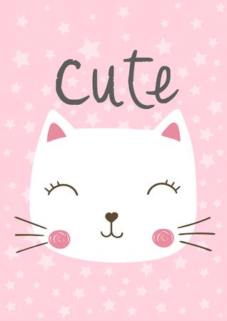 hapy: cute cat vector