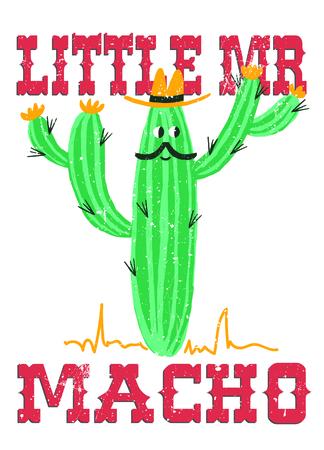 hapy: cute cartoon cactus Illustration