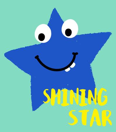 hapy: cute cartoon star vector