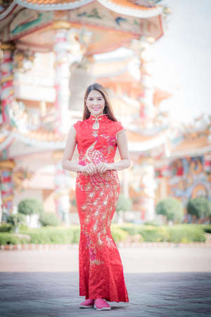 ambience: Asian Chinese woman in Traditional Chinese,by background ambience China .