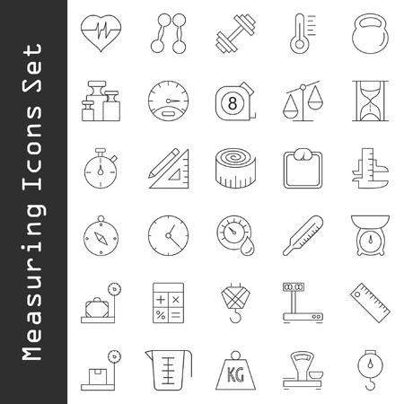icônes de mesure mis