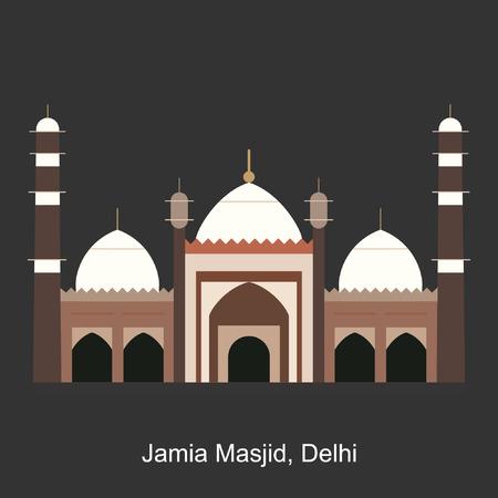 Jamia Masjid Delhi illustration. Illustration