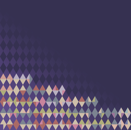 Multi-colored geometric pattern in gradient ultraviolet - the color trend 2018. Vector illustration. The colorful mosaic, combination of purple, magenta, pink, green, blue, brown, yellow. Use as web background, backdrop, or in graphic design, etc.