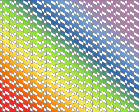 Abstract white geometric pattern with gray lines on colorful rainbow gradient colors - Vector illustration. Use as background, backdrop, montage, or texture in website, UI, app, logo, or graphic design; or print on gift wrapping paper or fabric.