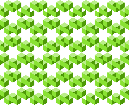 Geometric pattern of green colors isolated on white background, arranged in star shapes- Vector illustration, EPS10. Use as background, backdrop, image montage, or texture in website, UI, app, logo, or graphic design.