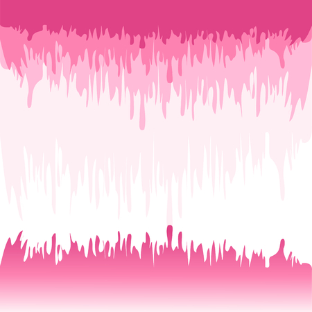 Abstract colorful pattern of pink tone colors on white background.