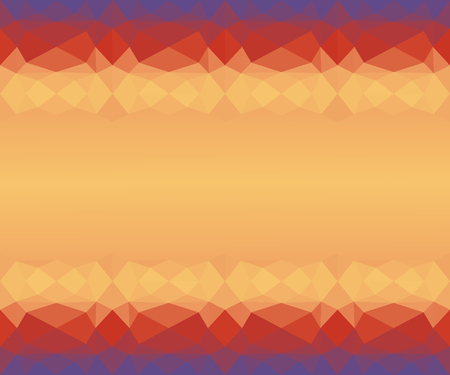 Abstract geometric frame in gradient gold (yellow), orange, red, and ultra violet (purple) colors. Useful as backdrop, image montage, or background on presentation slide, banner, etc. Vector illustration, EPS10.