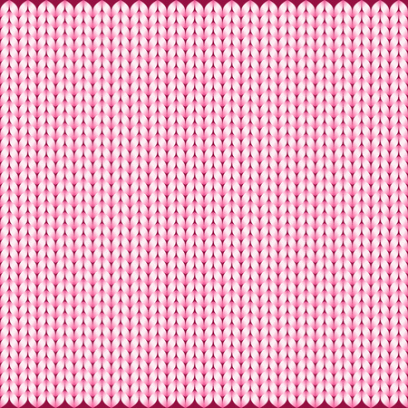 Abstract pattern of knitted texture background in pink color, vector illustration. Use as wallpaper or visual contents in topics of fashion, fabric, textile, clothing, garment, apparel, etc.