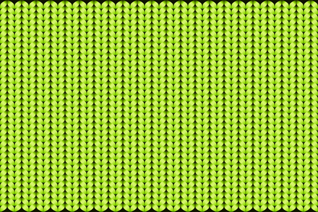 Abstract pattern of knitted texture background in green color. vector illustration. The image can be used as wallpaper, backdrop, visual contents in topics related to fashion, fabric, textile, clothing, garment, apparel, etc.