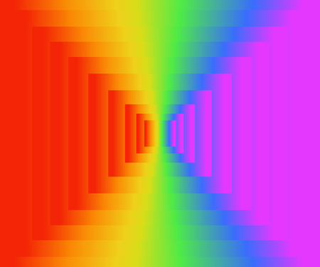 Colorful rainbow texture background of gradient colors, vector illustration, EPS10. There are six colors; red, orange, yellow, green, indigo / blue, and violet / purple.