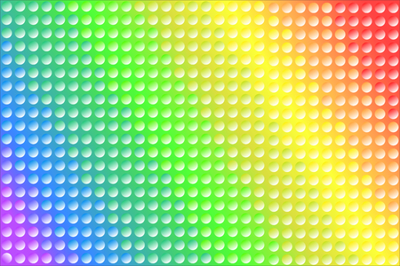 Colorful rainbow texture background of gradient colors and dots, used LGBT pride flag colors, symbol of LGBTQ (lesbian, gay, bisexual, transgender, and questioning). Vector illustration, EPS10.