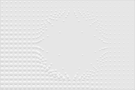 Abstract bumpy surface texture of gradient white and gray round dots. Vector illustration, EPS10. Can be used as background, backdrop, image montage, etc.