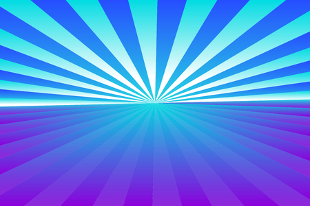 Abstract sunburst pattern, gradient blue, violet (purple), and white colored rays. Vector illustration, EPS10. Geometric pattern. Use as background, backdrop, image montage, mock up template, etc.