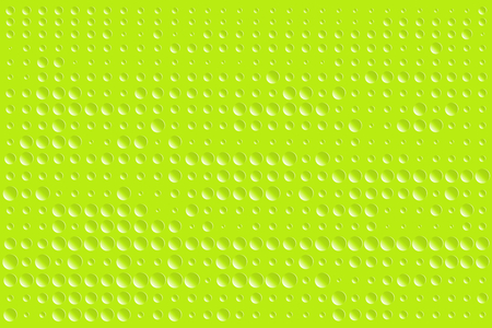 Abstract bumpy surface texture of gradient green round dots. Vector illustration, EPS10. Can be used as background, backdrop, image montage in graphic design, book cover, flyer, brochure, etc