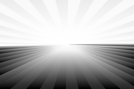 Abstract sunburst and ray pattern in black and white colors. Vector illustration, EPS10. Geometric pattern. Use as background, backdrop, image montage, mock up template, etc. Иллюстрация