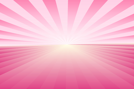 Abstract sunburst pattern, gradient pink ray colors with center light. Vector illustration, EPS10. Geometric pattern. Use as background, backdrop, image montage, mock up template, etc.