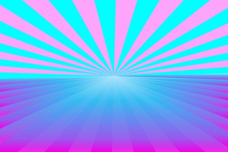 Patrón de rayos de sol abstracto, rayos de color azul degradado y rosa con luz central. Ilustración de vector, Eps10. Patrón geométrico. Úselo como fondo, telón de fondo, montaje de imagen, plantilla de maqueta, etc.