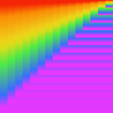 Colorful rainbow texture background of gradient colors, vector illustration, EPS10. Use as background, backdrop, image montage, etc. There are six main colors - red, orange, yellow, green, blue (indigo), and violet (purple or magenta).