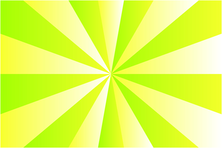 Abstract sunburst pattern, light green and yellow ray colors. Vector illustration, EPS10. Geometric pattern. Use as background, backdrop, image montage, mock up template, etc. in graphic design.