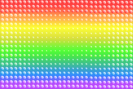 Colorful rainbow texture background of gradient colors and dots, vector illustration, EPS10. There are six colors; red, orange, yellow, green, indigo  blue, and violet  purple.