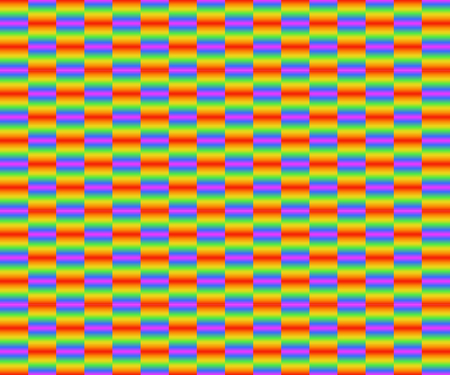 Colorful seamless checkered pattern of gradient rainbow colors, vector illustration, EPS10. There are six colors; red, orange, yellow, green, indigo  blue, and violet  purple. Illustration
