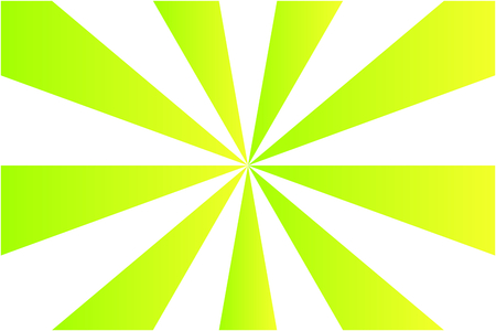 Abstract sunburst pattern, gradient green and yellow ray colors on white background. Vector illustration, EPS10. Geometric pattern. Use as background, backdrop, image montage, mock up template, etc. Illustration