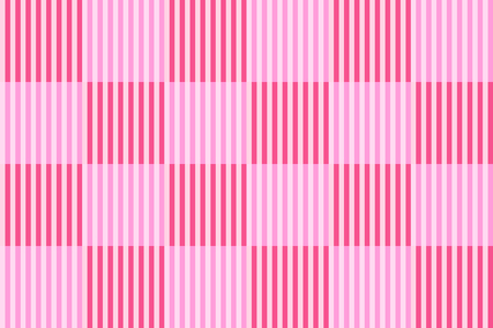 Checkered pattern with vertical striped lines, rose pink and red colors on pale pink background. Flat design vector for background, texture in graphic design; or fabric, tile, gift wrap paper printing