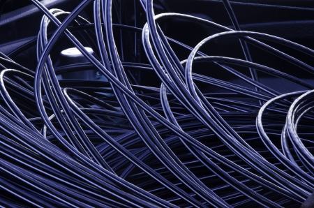 Cables, lines, wires, cables, coils, wires, coil, illustration, backdrop, background, materials,  Stock Photo
