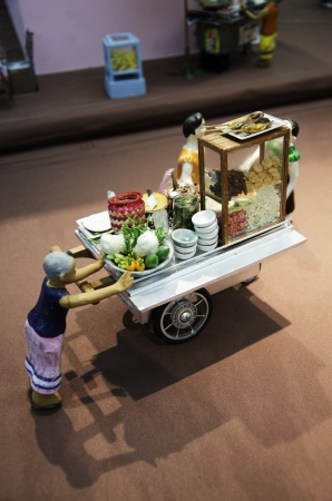 international puppet festival: Toy model that mimics the culture of Thailand.