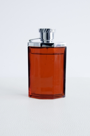 Perfume bottle in the background