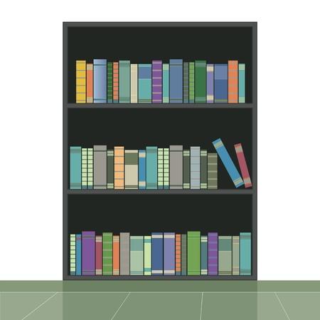 Boekenplank met een witte achtergrond Vector Illustratie