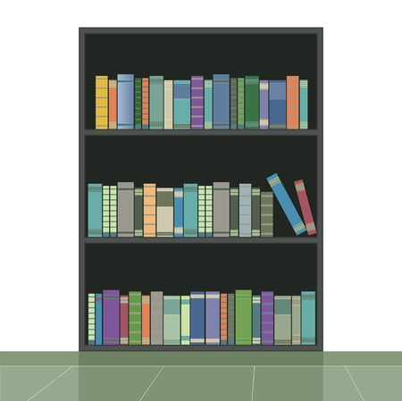 encyclopedia:  Bookshelf with a white background Illustration