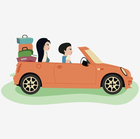 Take a drive to visit family Stock Vector - 21947566