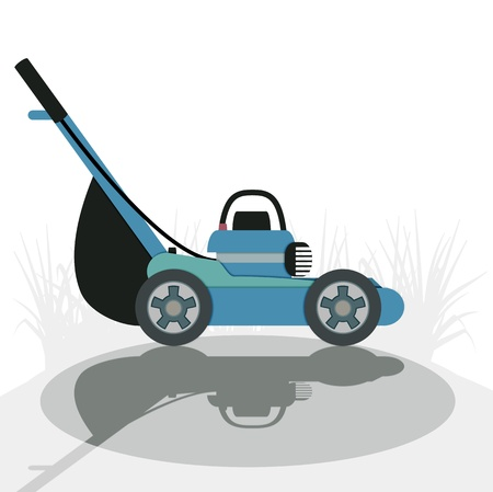 Mower with a white background  Vectores