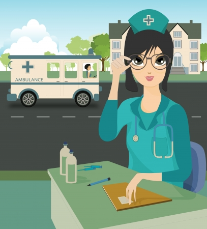 Nurse with a background as a hospital
