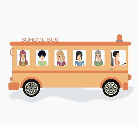 motorbus: Autob�s escolar con el fondo blanco