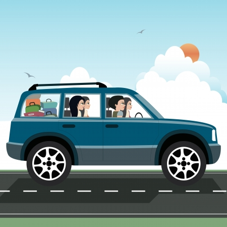 Was driving to visit family Stock Vector - 22099522