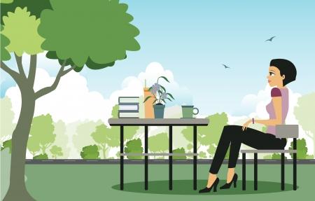 pareja comiendo: Las mujeres se sientan en medio de plantaciones de café