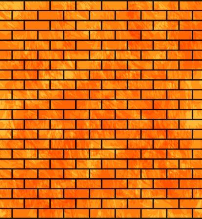 cemented: Piedra de la pared de fondo con ladrillos Vectores