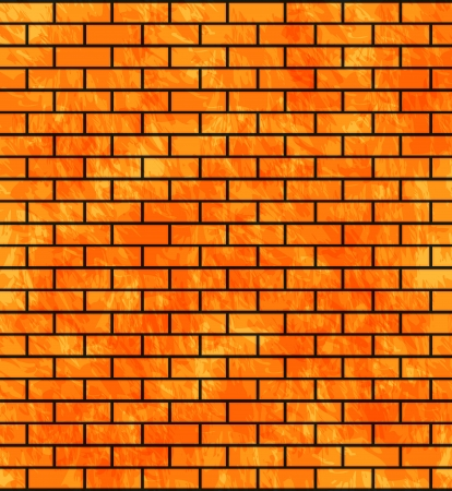 Stone wall background with bricks  Vector