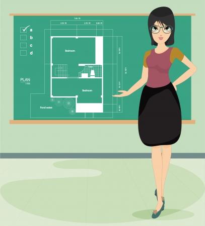 replica: Women teachers are teaching the writing mode