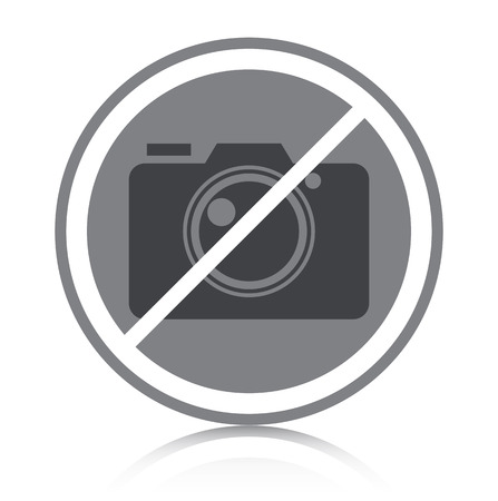 Prohibited symbol with white background
