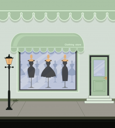 Clothing store on the street  Illustration