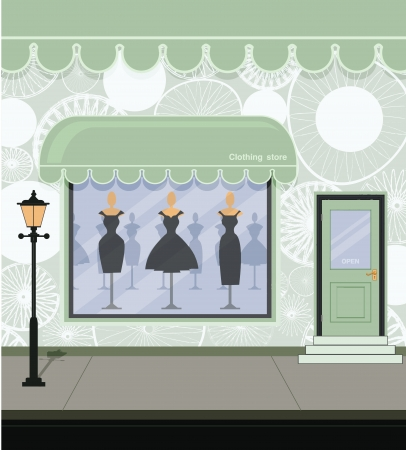 upscale: Clothing store on the street  Illustration