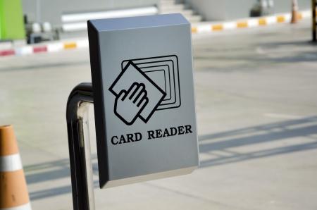 카드 판독기 주차 사용