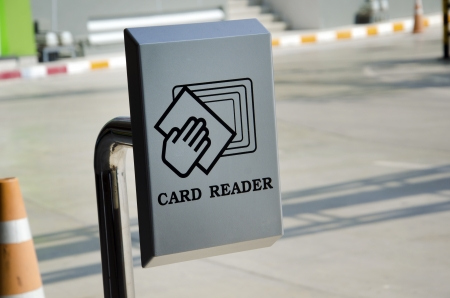 Card reader is used for parking